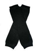 "SOLID BLACK - Baby Leggings/Leggies/Leg Warmers for Cloth Nappies - Little Girls & Boys & ONE SIZE by ""BubuBibi"""