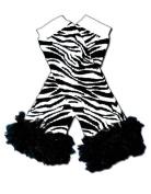 "BLACK & WHITE ZEBRA WITH BLACK CHIFFON RUFFLES - Baby Leggings/Leggies/Leg Warmers for Cloth Nappies - Little Girls & Boys & ONE SIZE by ""BubuBibi"""