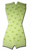 GREEN POLAKDOTS Baby Leggings/Leggies/Leg Warmers for Cloth Nappies - UNISEX & ONE SIZE