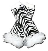 "BLACK & WHITE ZEBRA WITH WHITE CHIFFON RUFFLES Baby Sweet Leggings/Leggies/Leg Warmers for Cloth Nappies - Little Girls & ONE SIZE by ""BubuBibi"""