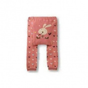 Wrapables Baby & Toddler Leggings, Heartful Hare - 6 to 12 Months