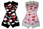 "2 DIFFERENT SHAPE HEARTS- BE MY VALENTINE Baby Leggings/Leggies/Leg Warmers for Cloth Nappies - GIRLS OR BOYS & ONE SIZE by ""BubuBibi"""