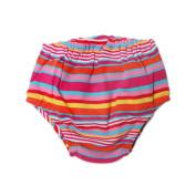 Zutano Baby-girls Infant Multi Stripe Nappy Cover, Fuchsia, 18 Months