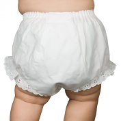 I.C. Collections White Double Seat Nappy Cover Bloomers