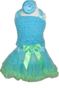 Girls Pettiskirt Set with Smocked Top and Hairbow MED 4-5