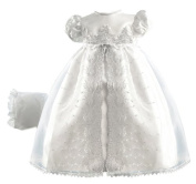 Lauren Madison baby girl Christening Baptism Special occasion Newborn Embroidered Organza Satin dress gown