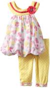 Nannette Baby-girls Infant 2 Piece Flower Legging Set