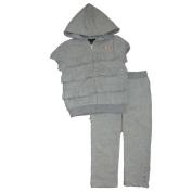 Calvin Klein Girls 2pc Hoodie Top and Pants, Grey, 4T