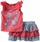 Nannette Baby-girls Infant 2 Piece Heart Printed Scooter Set