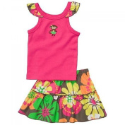 Carter's 2pc. Sleeveless Tank Top and Floral Skort Set - Baby Girls