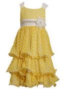 Bonnie Jean - Yellow Chiffon Dot Dress