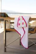 JJ Cole Hooded Towel - Pink Butterfly