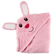 Luvable Friends Animal Face Hooded Woven Terry Baby Towel, Bunny