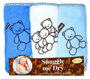Frenchie Mini Couture Teddy Bear Hooded Bath Towel Set, 3 Pack