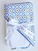 Caden Lane Ikat Collection Diamond Hooded Towel Set