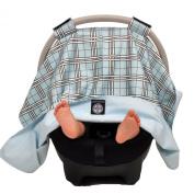 Balboa Baby Car Seat Canopy, Blue Plaid