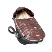 7 A.M. Enfant Baby Shield Extendable Baby Bunting Bag Adaptable for Strollers, Marron Glace, Large