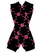 BLACK & PINK SKULL SKELETON Halloween Baby Sweet Leggings/Leggies/Leg Warmers - BubuBibi