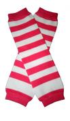HOT PINK & WHITE THICK STRIPES Baby Sweet Leggings/Leggies/Leg Warmers - BubuBibi