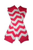 CHEVRON Hot Pink & White Zig Zag Baby Sweet Leggings/Leggies/Leg Warmers - BubuBibi