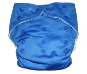 "Bamboo ORIGINAL SOLID Pocket Snaps Cloth Nappy/ Nappy with Hip Snaps with 1 Insert - One Size - BRIGHT (ROYAL) BLUE by ""BubuBibi"""