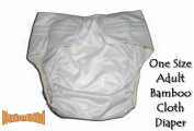 Adjustable Reusable/Washable BAMBOO ADULT Cloth Nappy/Nappy+2 Insert S/M/L Baby