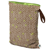 Planet Wise Wet Nappy Bag, Lime Cocoa Bean, Large