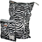 BubuBibi Wet/Dry Bag Cloth Nappy/Swim MINKY ZEBRA (53cm X36cm )SOFT