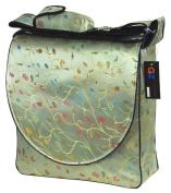 Bean Green Chilli Flower Brocade Nappy Bags 12x30cm x 10cm