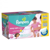 Pampers Easy Ups Training Pants for Girls, Value Pack