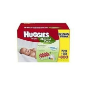 Huggies Natural Care Hypoallergenic Baby Wipes 800 ct.