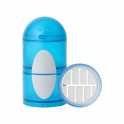 Boon Penguin Snack Stack Container, Blue/Grey, 330ml