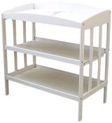 LA Baby 3 Shelf Wooden Changing Table