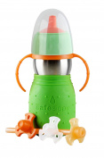 The Safe Sippy 2 2-in-1 Sippy to Straw Bottle, Green - 6 Months
