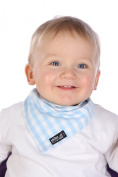 Skibz Dribble Bib - Blue Gingham