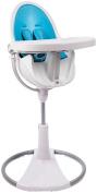 Bloom Fresco Chrome High Chair Starter Kit - Bermuda Blue
