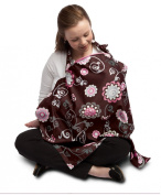 Boppy Olivia Travel Pillow, Nursing Cover and Shopping Cart Cover Bundle, Brown/Pink