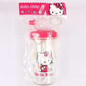 Hello Kitty Cup with Lid and Straw - approx 15cm Tall