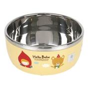 Lock & Lock Hello Bebe Storytelling Educational Design Baby Feeding Stainless Steel Bowl, Small
