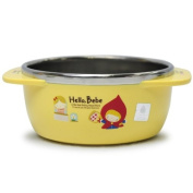 Lock & Lock Hello Bebe Storytelling Educational Design Baby Feeding Stainless Bowl with Handle, Small
