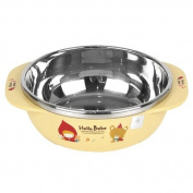 Lock & Lock Hello Bebe Storytelling Educational Design Baby Feeding Stainless Bowl with Handle, Big