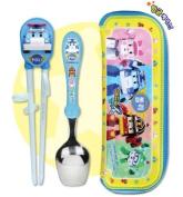 Robocar Poli Spoon+Chopstick Trainer+Case Set