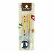 Lock & Lock Hello Bebe Storytelling Educational Design Baby Feeding Stainless Steel Spoon and Chopsticks Set