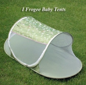 I Frogee Olive Green Butterfly Brocade Pop-Up Tent