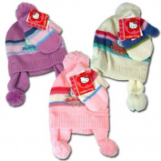 Hello Kitty Knit Hat & Mitten Set For Girls