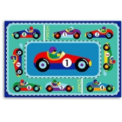 Vroom Laminated Race Track Placemats - Two Pc Set