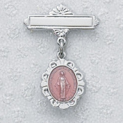 Sterling Silver PINK MIRACULOUS BABY PIN