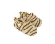 Plush Tiger Print Baby Booties
