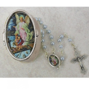 Guardian Angel Baby Rosary with Guardian Angel Keepsake Box great for baptism, baby shower or christening