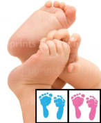 Baby-safe Mess Free Colour Inkless Footprint Kits